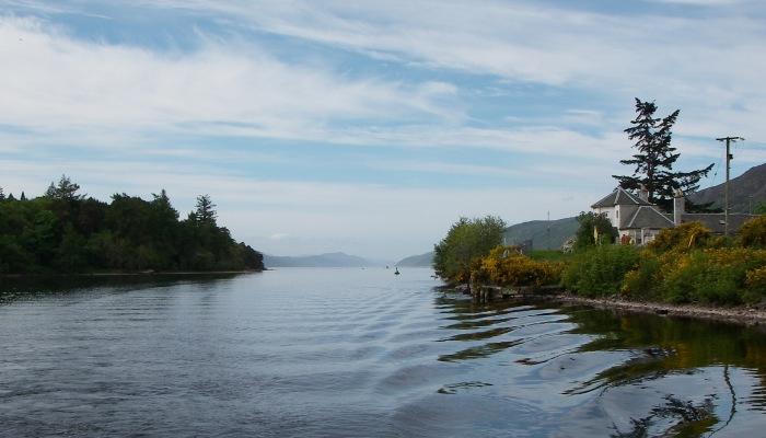 Entering Loch Ness from Loch Dochfour