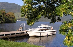 Osprey moored in Loch Oich - Ron & Lisa