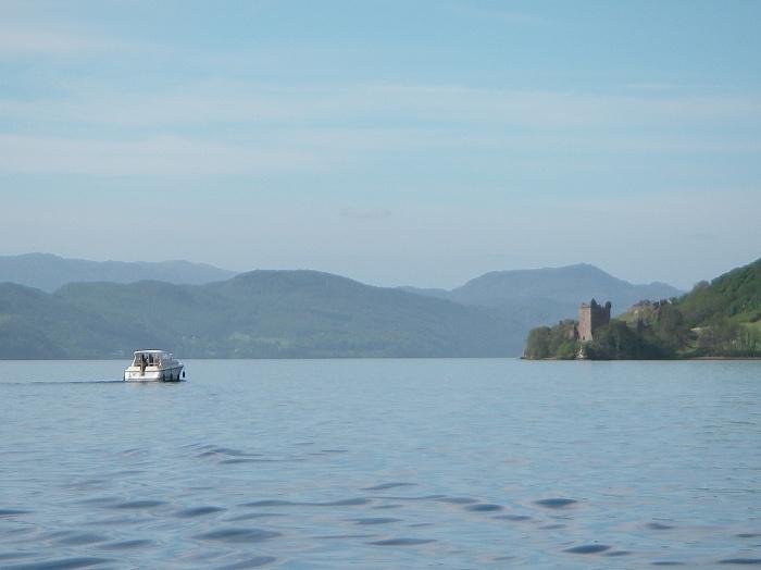Loch Ness blue sky