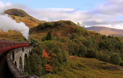 Steam train on the West Highland Line