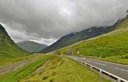 The road through Glencoe
