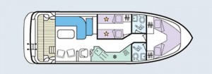 Caprice - accommodation layout
