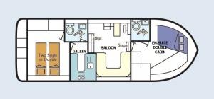 Clipper - accommodation layout