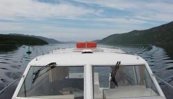 Cruising down Loch Ness